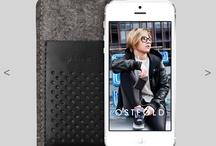iPhone 5 wool & leather case / Wool & leather cases for iPhone 5 handcrafted in Silesia