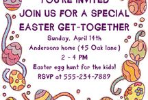 Easter Invitations templates / Free printable Easter invitations for home printing or downloading. / by Greetings Island