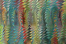Ebru çalışmaları - Art of marbling