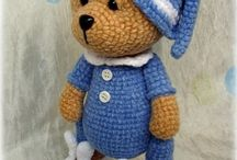 crochet and knitted toys
