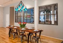 Warm Industrial Dining Room / Industrial style meets the practicality of the modern romantic that wants to create a warm, welcoming home for your dinner guests. If you are looking for a chic style for your dining room, check out these amazing industrial styles.