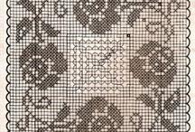 haft krzyżykowy - kwiaty
