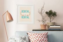 Renter's Delight / Being a renter doesn't mean you can't make the place your own, renting does have some boundaries. However there are things you can do to make sure you feel comfortable in your rented home. Check out our Pinterest board.