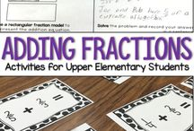Grades 3-5 Fractions / Get ideas to teach fractions on this board. If you teach third, fourth or fifth grade, you can find ideas for fractions lessons and hands-on activities here!
