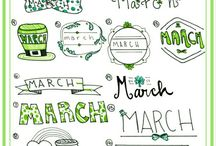 bullet journal march