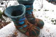 Felted boots