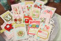 Button Cards / Anything you can make with vintage button cards and crafts that look like button cards.