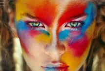 Kid makeup party ideas / Pour le spectacle d'hiver 2013 d'Ella.