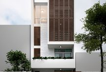 architecture - modern house small city house