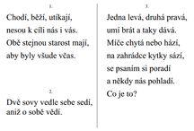 básničky a písničky