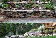 Mur, trappor och verandor