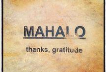 Mahalo / Mahalo is a Hawaiian word that means Thank You