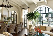 living,dining spaces