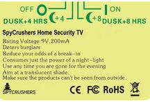 SpyCrushers Home Security Fake TV / Fake TV simulator for home security and protection.