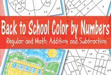 math facts coloring sheets