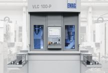 Short idle times: the VLC 100-P Vertical Turning Machine / The VLC 100-P Vertical Turning Machine changes workpieces in less than one second using two working spindles. While the first spindle machines one workpiece, the second automatically loads itself using the pick-up method. The result: idle times are reduced to a minimum.