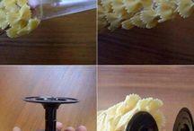 Lavoretti con la pasta cruda