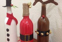 xmas wine bottle