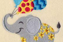 Machine embroideries
