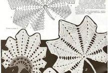 liście szydełko