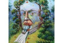 Олег Шупляк / Олег Шупляк - талантливый украинский художник, который пишет картины с двойным смыслом. Его иллюзии не всегда можно сразу уловить, но если вглядеться внимательней, то все становится на свои места. У Олега очень необычная техника исполнения: он не просто пытается создать иллюзию, он умело объединяет две картины в одной. От этого его работы становятся еще более заманчивыми и интересными.    http://art.ber.te.ua/