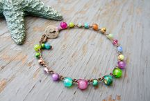 Rainbow bracelet crochet / Use button and loop to fasten