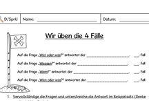 Deutsch Satzglieder und Fälle
