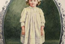 watercolor painting--Keepsake Commission: Olive Grace / Watercolor Portrait of a client's grandmother as a child