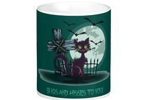 Cats on Mugs and Other Drinkware