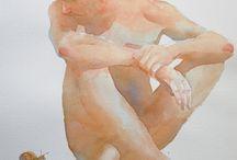 watercolor humans