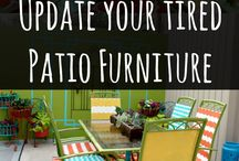 DIY - Update Old or Boring Furniture to Look New and Fresh / Painted, stained, decorated, reupholstered, furniture to make it look good again.