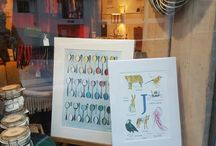 We are now stockists of Sarah Gregory Designs, Children's Gift Prints. / Sarah Gregory's  A to Z Animal Prints, perfect children's gifts. Now available at Willow Bell Home Pottery and Gifts, Middlewich, Cheshire   A3 £25   A4 £18
