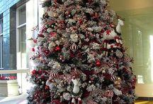 Christmas wedding trees