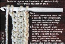 Crochet instruction / Crochet symbols