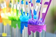 Painting Party Decor and more! / Ideas to make your event special. For a fee we can provide everything you need to make your event even more memorable...  aprons, party favors, table decorations and more!