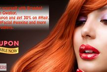 Girl beauty salon in Gwalior / Pamper yourself with Branded salon in Gwalior. use coupon ang get 30% on #Hair, #Spa, #Facial #waxing and more. with wroofers. #salon #BeautyParlour #