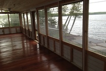 Dream View Enclosures Inc  Apsley Ontario Canada  1 705 933 8439 / A  clear self storing shutters system with a full bug screening  built from durable western red cedar  creating a weather barrier with a view,   Designed protection from wind, rain, snow, unaffected by frost, shifting, settling,  Do-it-youself, to custom contractor install Trim- to- fit or custom Hide- Away offer the maximum air flow of any system  Shipped prepared for assembly to your new or existing structure!