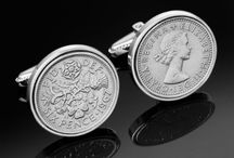 England Cufflinks / Handmade English sixpence Cufflinks. Choose by year.