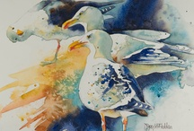 painting watercolours - denise joy mcfadden