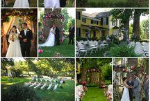 1812 Hitching Post {Ceremony Decorations} / Wedding #arbor and #aisle #decorations for the 1812 Hitching Post in Harmony, North Carolina.