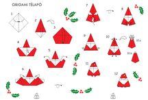 origami mikulás