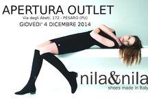 APERTURA OUTLET nila&nila a PESARO / Apertura Outlet a Pesaro in via degli abeti 172, Italy dal 4 dicembre 2014  bags and shoes made in Italy