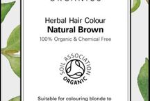 Herbal Hair Colours / A wonderful selection of organic herbal hair colour powders