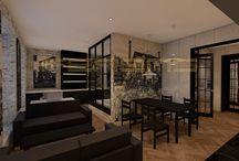 FERENS DESIGN / WARSZAWA / 40 mkw / architekt FERENS design joanna ferens - hofman warszawa wizualizacje