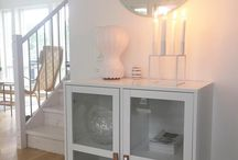 Skals Vitrine / Skals vitrine are stackable but can be place side by side. Avaiable with 2 glass doors and Skals sideboard is available wiht 2 wodden doors. https://www.jysk.ca/skals-2-door-vitrine.html