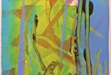 Monoprinting by Intuitive Artist Joan Fullerton / Monoprinting by Intuitive Artist Joan Fullerton