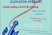 Elevator Speech / Information about elevator speech/pitch / by UTSA CSPD (Center for Student Professional Development)