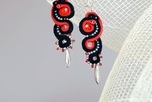 Netha Soutache Jewellery / My own hand embroidered jewellery. Soutache.