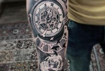 Tattoo with pocket watch
