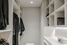 Kleidezimmer schmal / Ещё шкаф для обуви и зеркало